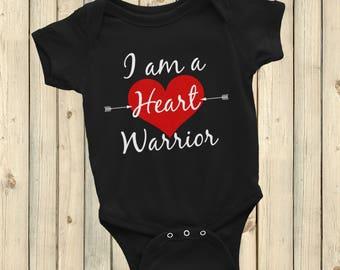 I am a Heart Warrior CHD Heart Defect  Bodysuit - Choose Color
