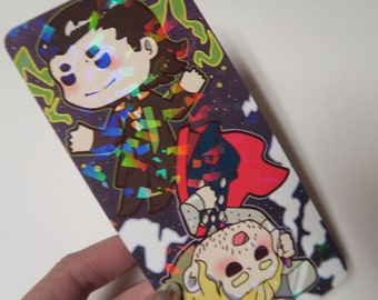 SALE avengers thor and loki prism bookmark