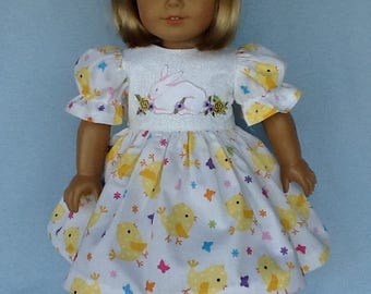 18 inch doll Easter dress. Made to fit dolls like AG, Gotz, Our Generation, and other 18 inch dolls.