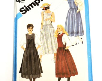 Simplicity 6479 Sewing Pattern, Jumper Sundress Misses Size 10, Round Square Neckline, Dropped Waist, Overskirt, Uncut itsyourcountry
