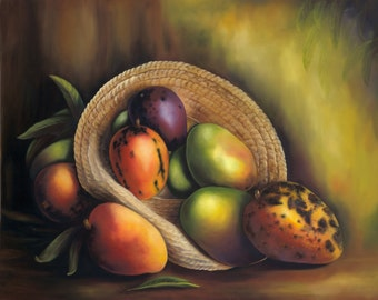 """Mother's Gift !! The Best Cuban Art. Oil painting  18""""x 22""""  Title : """"Delicias Tropicales"""""""