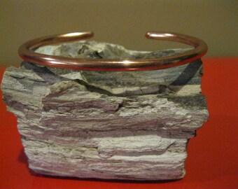 Coated copper cuff bracelet