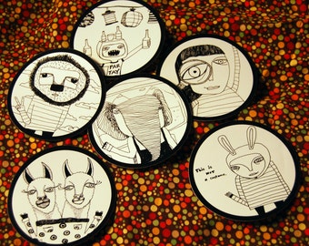 Cool Original Sticker Illustrations!!! Laptop Stickers, Water bottle stickers, etc.