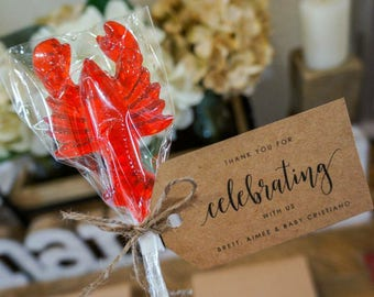 10  LOBSTER LOLLIPOPS - Pick Any Color and Flavor