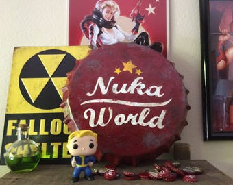 Nuka World Metal Sign