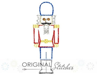 Quick Stitch Christmas Nutcracker Embroidery Digital Design File  4x4 5x7 6x10