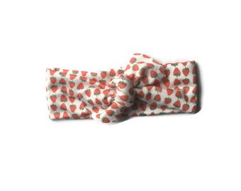 Strawberry Organic Baby knotted Headbands / Baby turban Headbands / Baby Girl Head Wraps / Baby Headwrap / Headbands for Baby Girls