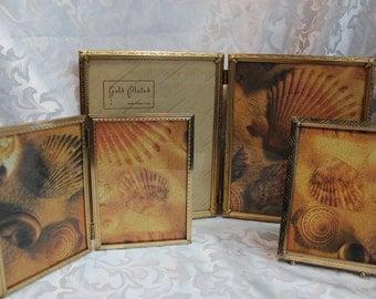 Vintage Photo Frame Set - Picture Frame Collection - old Gold Frames