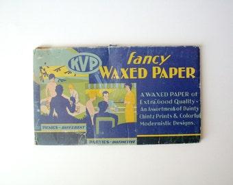Vintage KVP Fancy Waxed Paper, 1931