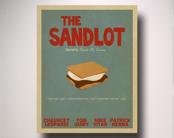The Sandlot Poster / The Sandlot Minimalist Movie Poster / The Sandlot Movie Poster