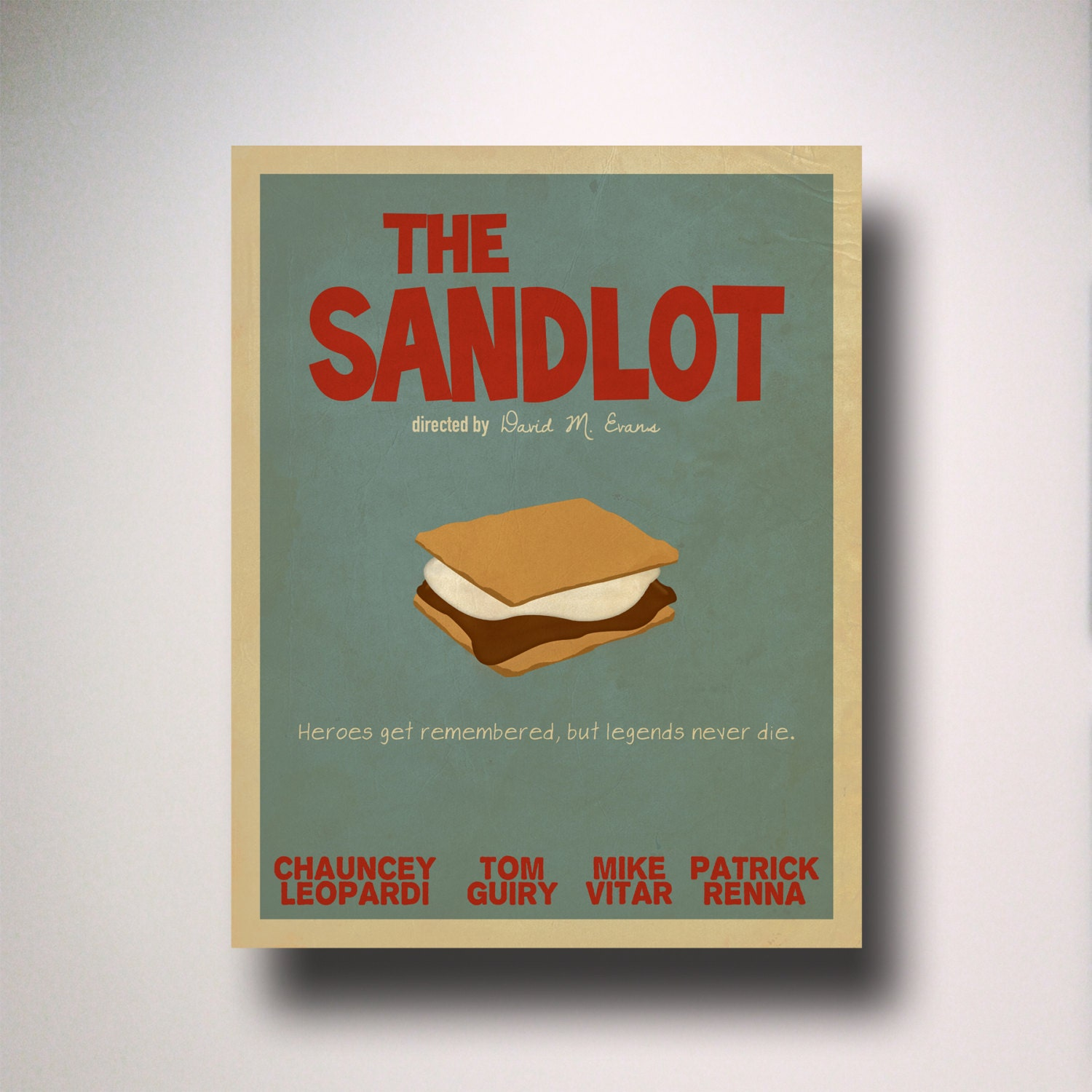 The Sandlot Poster / The Sandlot Minimalist Movie Poster / The