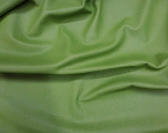 """Leather 12""""x12"""" NEW Avocado Green PRINCE line Cowhide 2.5 oz/ 1 mm PeggySueAlso™"""