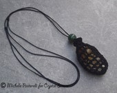 Interchangeable Macrame Tumbled Stone Necklace Abundance (INN0002)