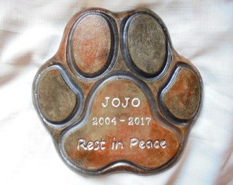 Dog Memorial, Cat Memorial, Real Stone Pet Marker, Shipping Included