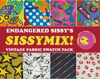 Sissymix Vintage Fabric Swatch Pack - Crazy '80s theme