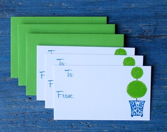 Chinoiserie Topiary Gift Enclosure Cards