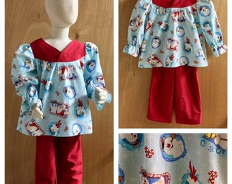 Frosty The Snowman Christmas Pajamas, size 2t
