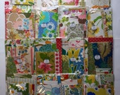 1960s and 1970s Vintage Wallpaper Big scrap pack/ grab bag-at least 30 patterns! Collage/ scrapbooking