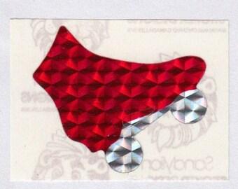SALE Sandylion Rollerskate Prism Rare Vintage Sticker - 80's Prismatic Red Scarlet Crimson Skate Roller Derby Collectible