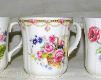 Three English Bone China Cups