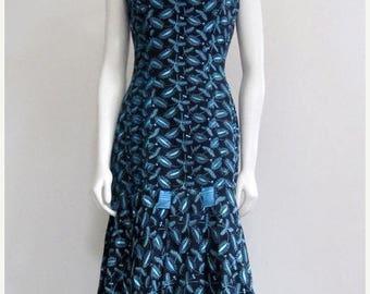 Emma Domb / Emma Domb Dress / 50s Dress / Black Blue / Wiggle Dress / Mad Men / Mad Men Dress / Back Bow Dress / Dress for Wedding