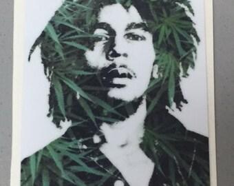 Bob Marley Rasta Sticker