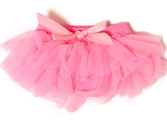 Pink Tutu Bloomers, Diaper Cover, Pink Tutu, Baby Tutu, Pink Baby Tutu, Red Diaper Cover, Ruffle Diaper Cover, Ruffle Bloomers