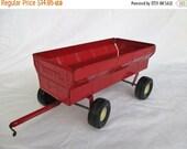 HOLIDAY SALE 20% Off Vintage Ertl Red Toy Farm Wagon