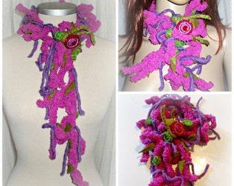 Handmade crochet   scarf hippie.boho,gipsy,elven  style