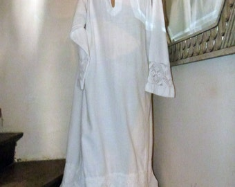 Antique clergy robe shirt alb robe dress religious vestment w handmade lace church priest robe French clergical liturgical vestment clothing