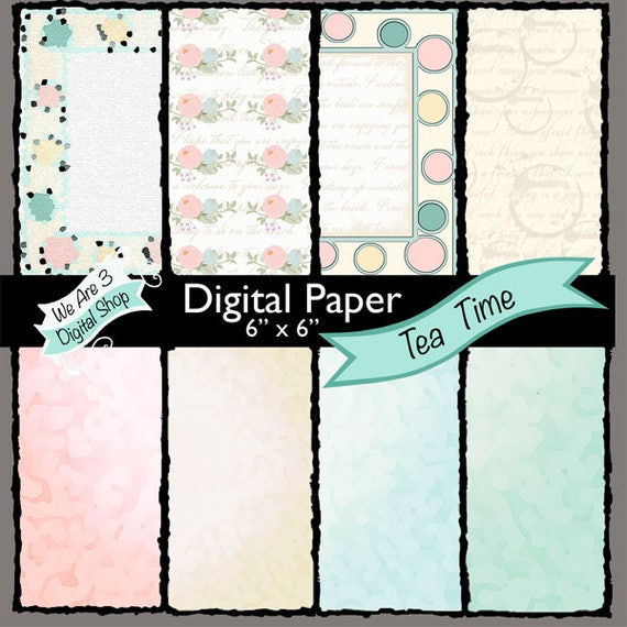 We Are 3 Digital Paper, Tea Time,  Kit & Clowder, Intro Price