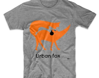 Matthew the Urban Fox organic adults' t shirt