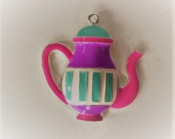 48mm*54mm Enamel Teapot Pendant, P6