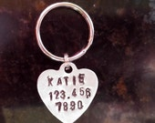Hand Stamped Tag, Dog Tag, Personalized Dog Tags, Pet ID Tag, Dog Name Tag, Pet Tag, Custom Dog Collar Tag, Aluminum ID Tag, Dog Collar Tag