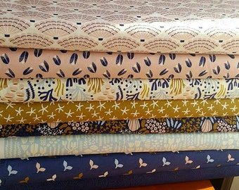 Organic Underwater fabric bundle - 8 prints