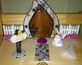 Handcrafted Stained Glass Fairy Door
