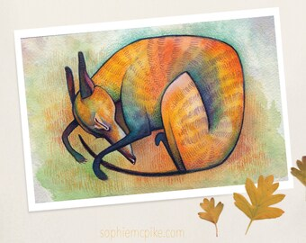 Sweet Slumber A5 Print Greyhound