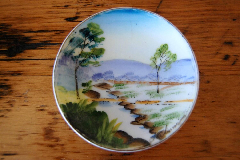 Vintage Pair of Hand Painted Japan Plates Vintage Hand Painted Wall Plates Decorative Plates from The & Vintage Pair of Hand Painted Japan Plates Vintage Hand Painted Wall ...