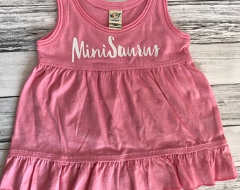 SALE 6m MiniSaurus Dress- | Dinosaur | Girl Clothes | Infant Clothes | Baby| Dinos