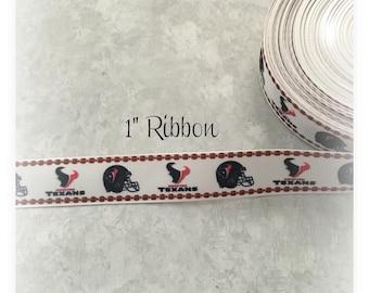 Texans 7/8 inch Grosgrain ribbon #2