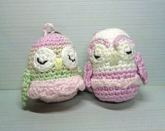 Crochet keychain owl, crochet owl, cute owl, keychain, amigurumi, handmade, crochet keychain, owl keychain, bird keychain, owl