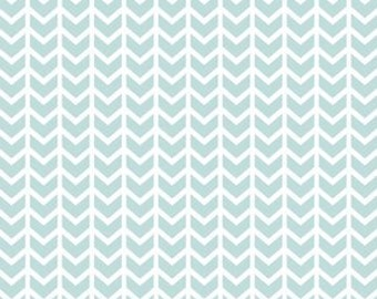 Fitted Crib Sheet- Glacier Blue Broken Chevron Fitted Crib Sheet