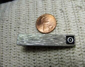 60's small silver tie clip