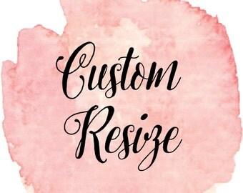 Custom Resize on any Invitation