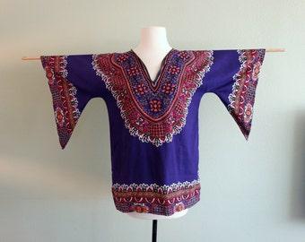 Burning Man Vintage  Voodoo Witch Doctor Barbados Dashiki Cotton Caftan Muumuu Jimi Hendrix Tunic Raggae Africa Black Lives Matter
