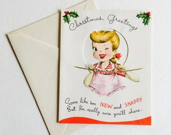 NOS 1950s Vintage Christmas Cards Set of 6