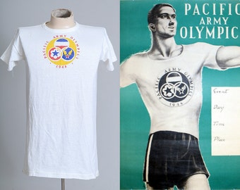 1940s WWll Pacific Army Olympics 1946 T Shirt