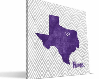 TCU Horned Frogs 12x12 Home Canvas Print