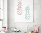 Pineapple Stencil from The Stencil Studio. Reusable stencils for home decor and DIY, easy to use. 10557