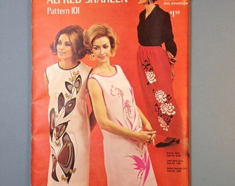 Alfred Shaheen 1960s Designer Dress Pattern 101